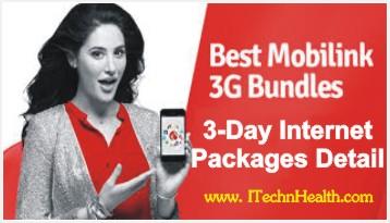 Mobilink 3 days Internet Packages Detail