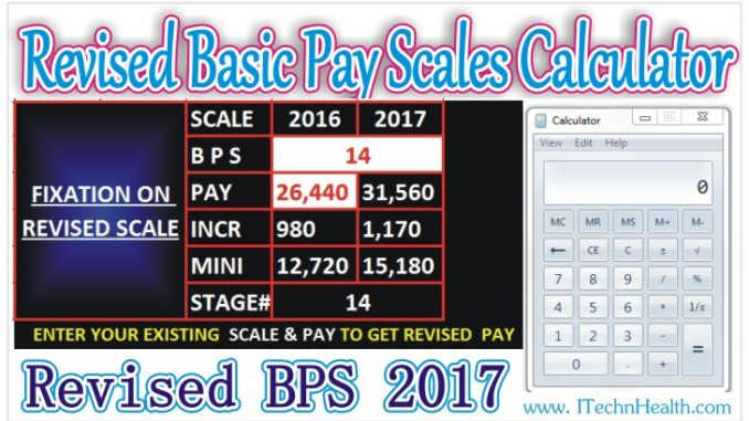 Revised Basic Pay Scales Calculator - iTechnHealth com