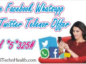 Free Facebook, Whatsapp & Twitter Telenor Offer