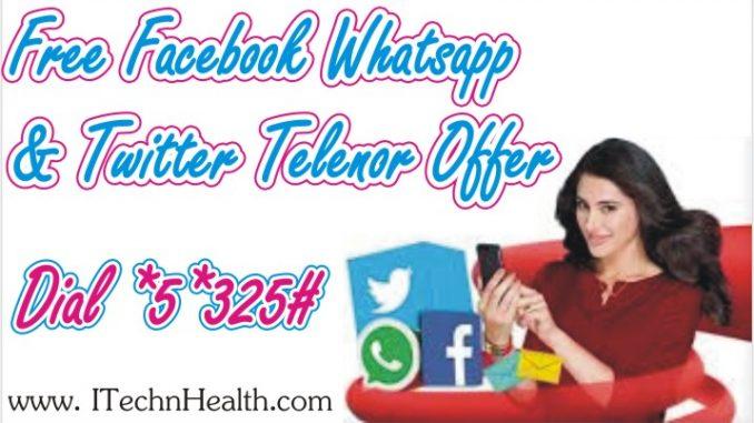 Free Facebook, Whatsapp & Twitter Telenor Offer
