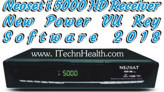 Neoset I 5000 HD Receiver New PowerVU Key Software 2018