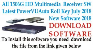 All 1506G HD Multimedia Receivers New PowerVU Key Software
