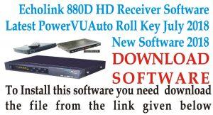 Download Echolink 880D Receiver Latest PowerVU Auto Roll Key