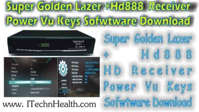 Super Golden Lazer+HD888 Receiver New Key Software Download