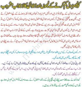 Control Cholesterol Using Lemon and Caraway Drink In Urdu