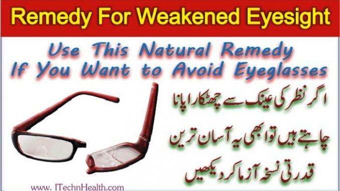Natural Remedy For Weakened Eyesight