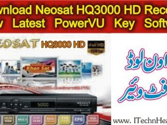 Neosat HQ3000 HD Receiver New PowerVU Key Software Update 2018
