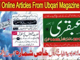 Read Online Articles From Ubqari Magazine January 2019