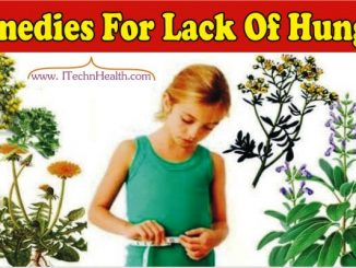 Useful Natural Home Remedies For Lack Of Hunger