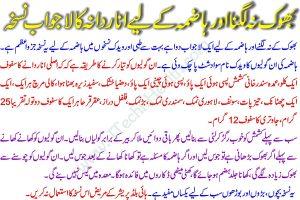 bhook barhane ka desi nuskha in urdu