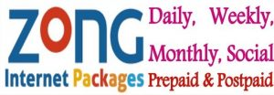Zong Internet Packages Daily, Weekly, Monthly Sub and Unsubscribe Code With Prices