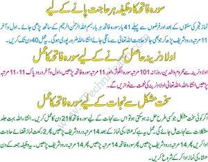 Olad K Lehe Surah Fatiha Ka Wazifa