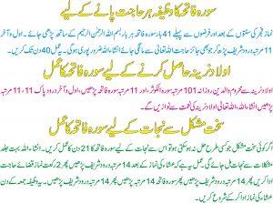 Olad Paney K Lehe Wazifa