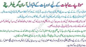 Quick Weight Lose Tips In Urdu