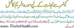 Surah Maryam Se Cancer Ka Ilaj