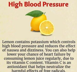 Use Of Lemon To Control High Blood Pressure