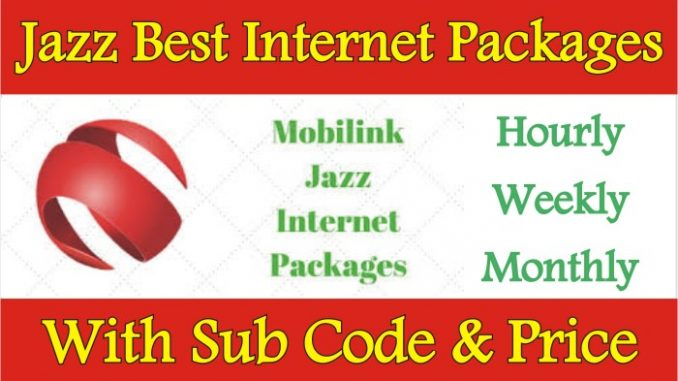 Jazz Best Internet Package Detail With Subscription Code & Price