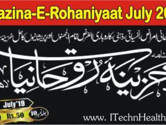 KHAZINA-E-ROHANIYAAT JULY 2019