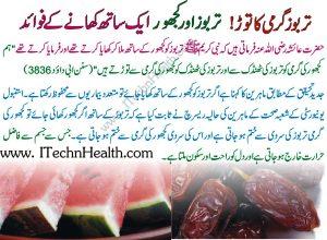 Tarbooz Aur Khajoor Ke Faide