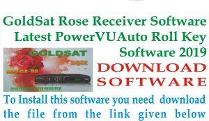 Latest Goldsat Rose Receiver New Software