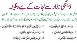 Wazifa For Dengue Fever
