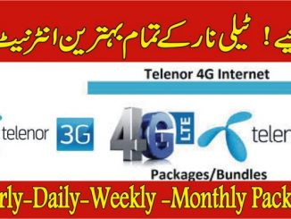 All Telenor Internet Packages