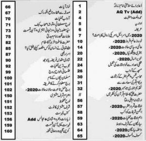 Bara Imamia Jantri 2020 Urdu Jantary