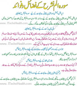 Surah Alam Nashrah K Fawaid
