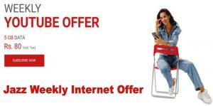 Jazz Weekly Internet Packages 5GB