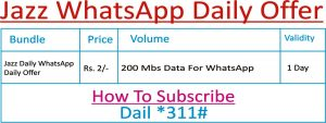 Jazz WhatsApp Daily Offer