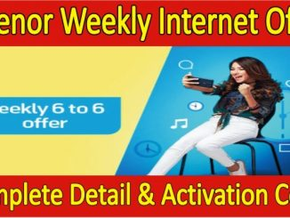 Telenor Weekly Internet Package