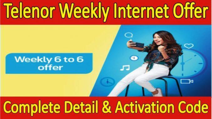 Telenor Weekly Internet Package