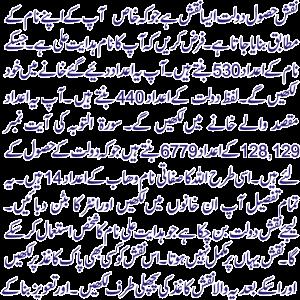 Rizq Aur Dolat Ka Powerful Wazifa
