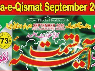 Aina E Qismat September 2020 Magazine