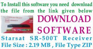 StarSat SR-500T Receiver New Software