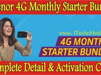Telenor 4G Monthly Starter Bundle Code