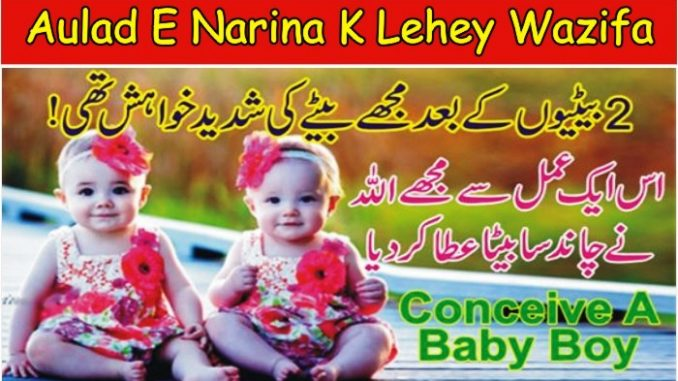 How To Conceive A Baby Boy 100 Percent, Aulad e Narina Hone ka Wazifa Dua