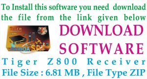Tiger Z800 Receiver New Software