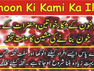 Khoon Ki Kami Ka Ilaj, Blood ki Kami ke Nuskhe In Urdu