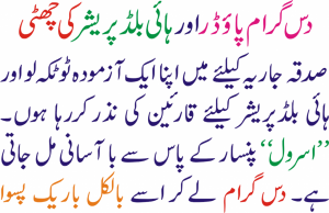 High Blood Pressure Ko Control Karney Ka Ahsan Tariqa