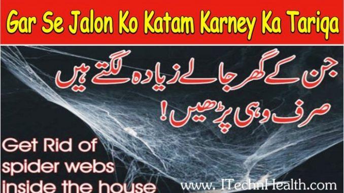 Get Rid Of Spider Webs Inside the House, Gar Se Jalon Ko Katam Karney Ka Tariqa