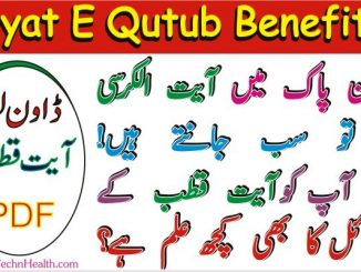 Ayat e Qutub Benefits, Download Ayat e Qutub PDF