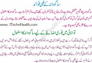 Sabudana Ka Isteaml In Urdu