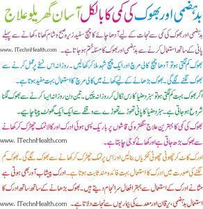 Bhook Lagne Ki Medicine
